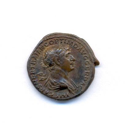 Denier de Trajan trouvé à Wissant