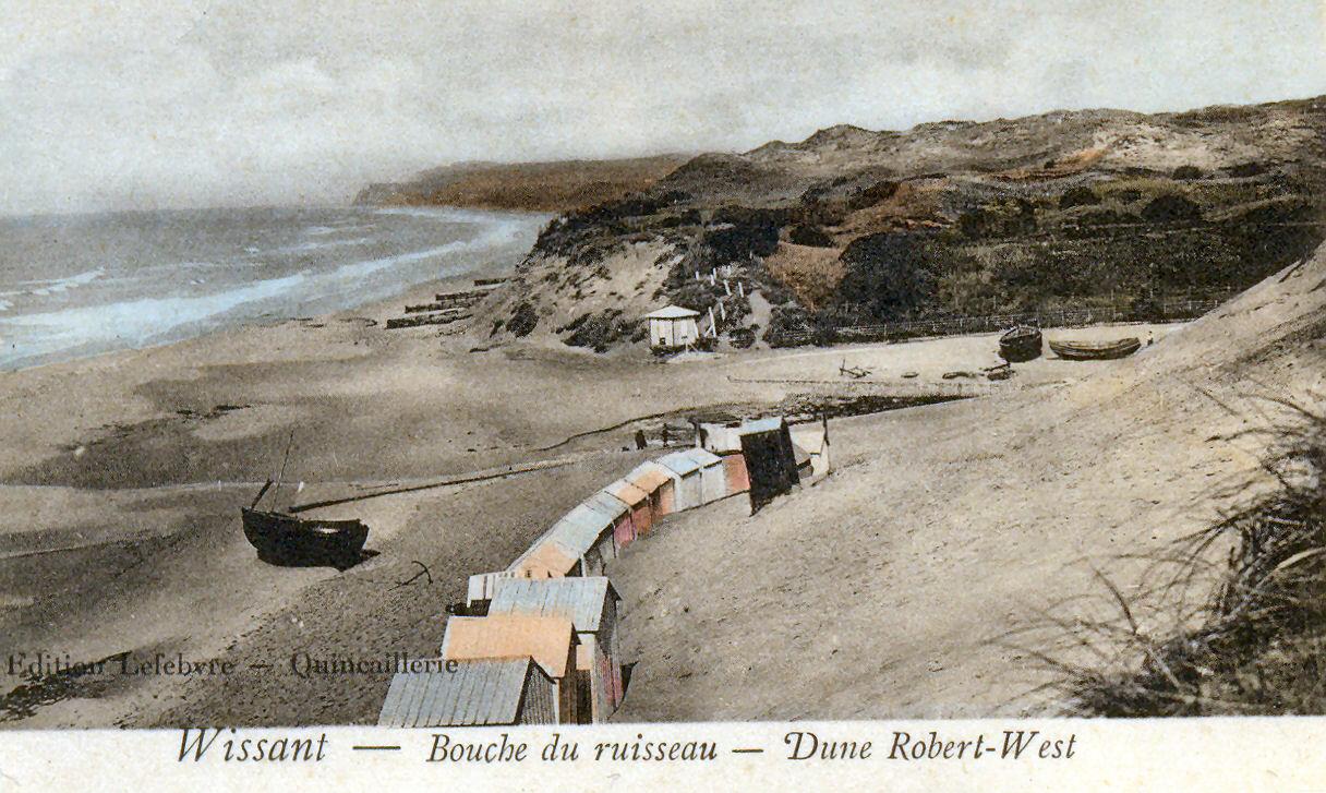 Wissant la bouche du ruisseau et la dune