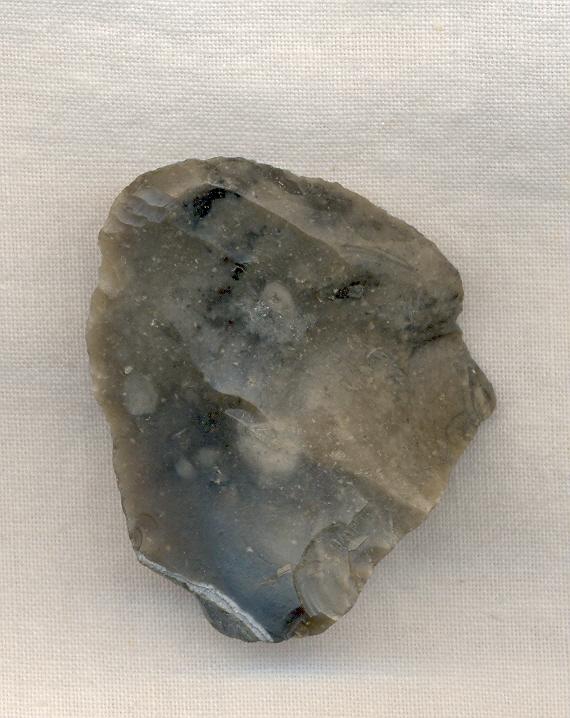 Grattoir néolithique trouvé sur la plage de Wissant